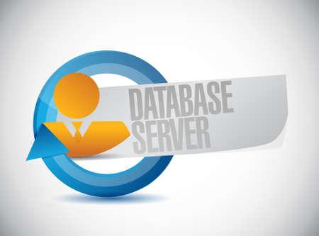 database server avatar sign illustration design graphic