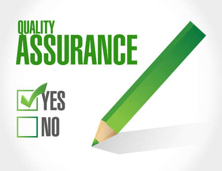 happening: Quality Assurance approval sign concept illustration design graphic