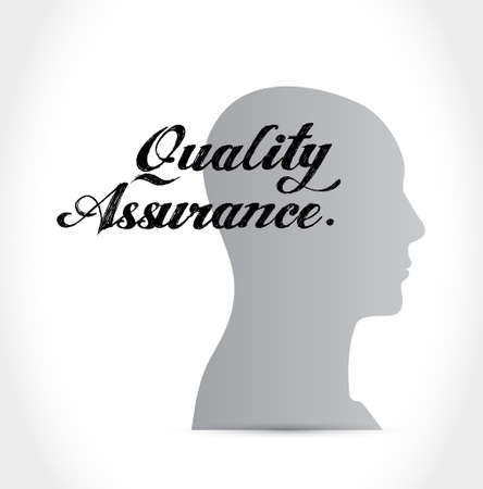 contingency: Quality Assurance thinking brain sign concept illustration design graphic Illustration