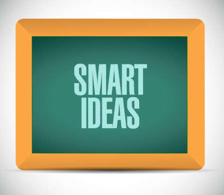 concept and ideas: smart ideas board sign concept illustration design graphic Illustration