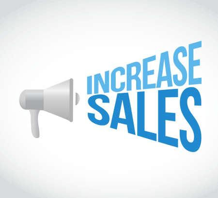 increase sales: increase sales megaphone loudspeaker message illustration design graphic