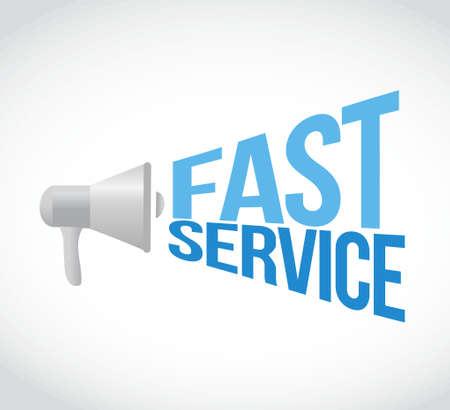 fast service megaphone loudspeaker message illustration design graphic Illustration