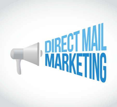 direct mail: direct mail marketing megaphone message concept illustration design graphic