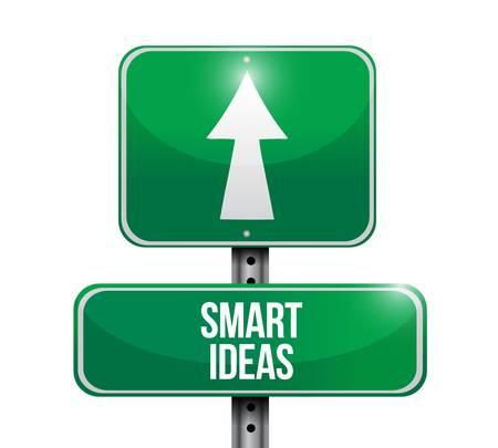 street sign: smart ideas road sign concept illustration design graphic Illustration