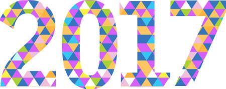 2017 三角形形状サイン パターン背景イラスト デザイン グラフィック