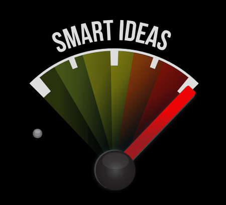 internet mark: smart ideas meter sign concept illustration design graphic