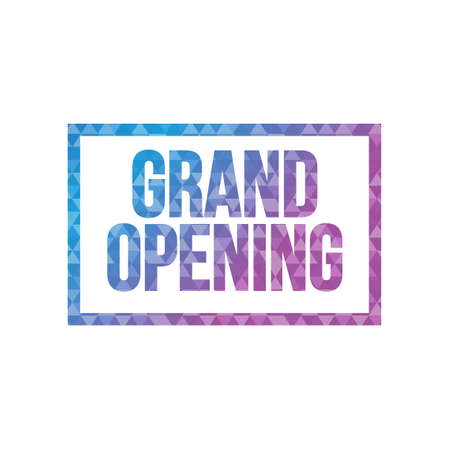 business event: triangle shape grand opening text pattern background illustration design graphic Illustration