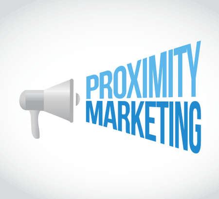 proximity marketing megaphone message concept illustration design graphic Ilustração