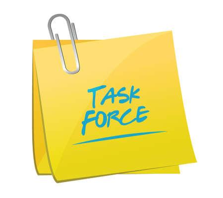 force: task force memo post sign concept illustration design graphic