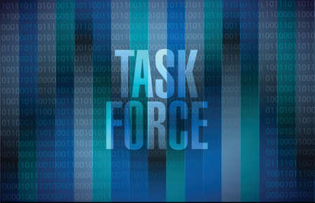 task force binary background sign concept illustration design graphic