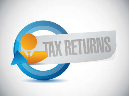 tax returns: tax returns cycle sign concept illustration design graphic