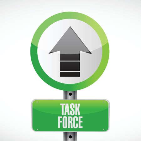 force: task force road sign concept illustration design graphic