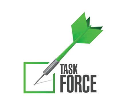 business group: task force check dart sign concept illustration design graphic