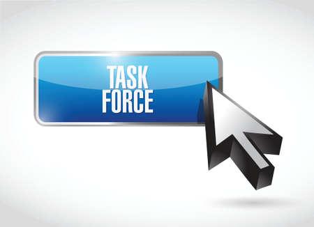 force: task force button sign concept illustration design graphic Illustration