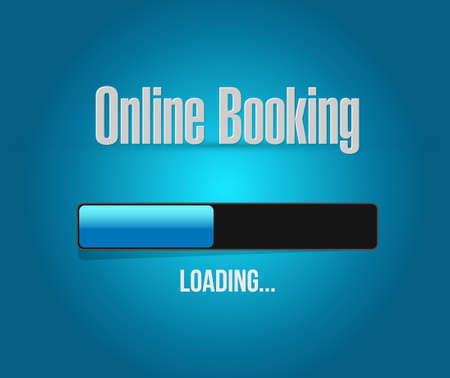 online booking loading bar sign concept illustration design graphic Ilustração