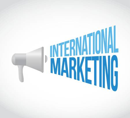 international marketing megaphone message concept illustration design graphic Illustration