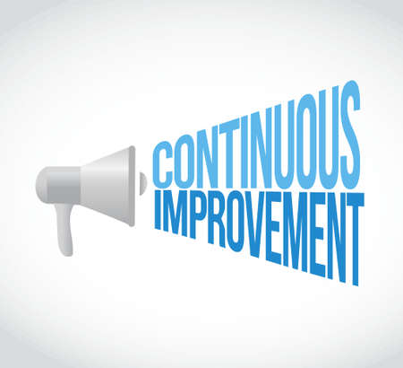 continuous improvement megaphone loudspeaker message illustration design graphic