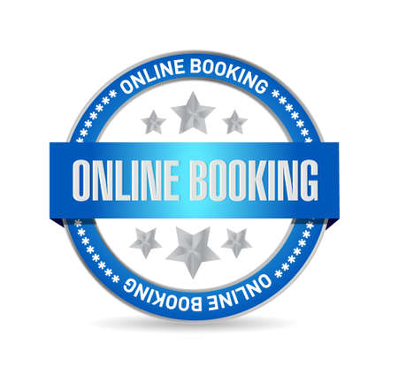 online booking seal sign concept illustration design graphic