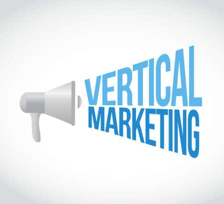 verticales: marketing vertical megáfono mensaje de ilustración del concepto de diseño gráfico