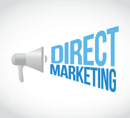 direct marketing: direct marketing megaphone message concept illustration design graphic