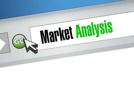 market analysis webmail sign concept illustration design graphic