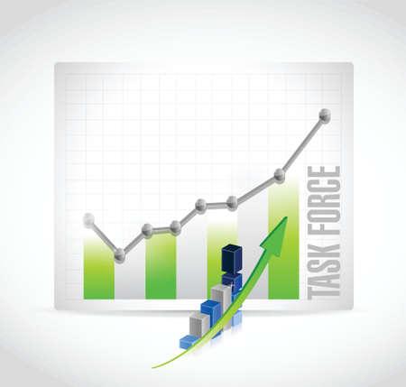 task force business graph sign concept illustration design graphic