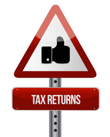 account form: tax returns like road sign concept illustration design graphic