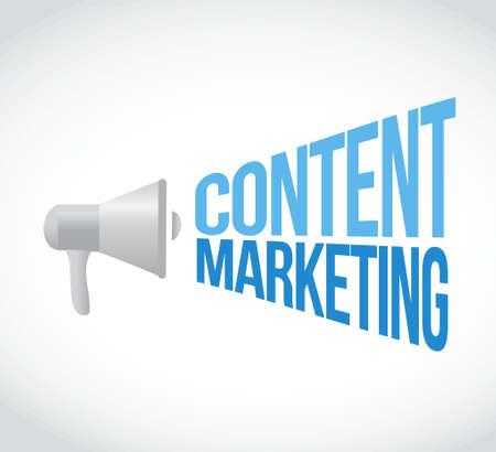 contents: content marketing megaphone message concept illustration design graphic Illustration