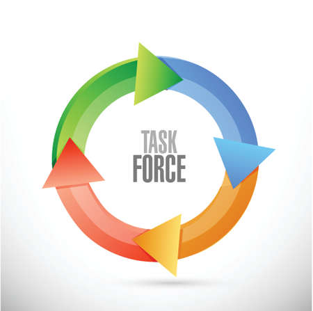 task force cycle sign concept illustration design graphic Çizim