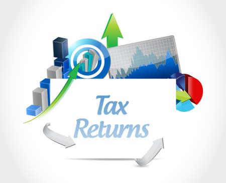 Declaraciones de impuestos gráfico de negocio signo concepto de ilustración, diseño gráfico Foto de archivo - 52757021
