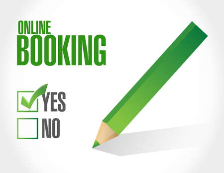 e systems: online booking approval sign concept illustration design graphic Illustration