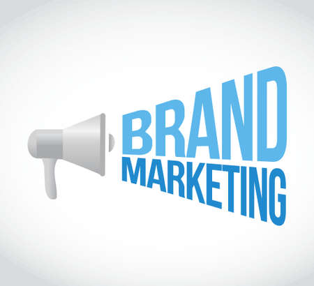 brand marketing megaphone message concept illustration design graphic Illustration