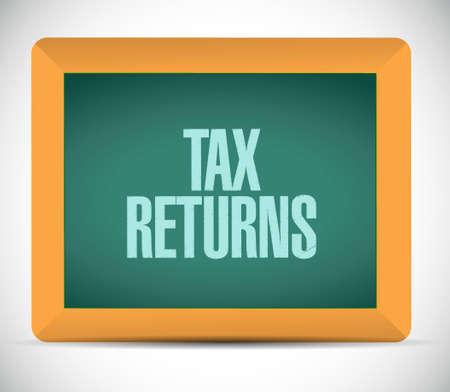 majesty: tax returns chalkboard sign concept illustration design graphic