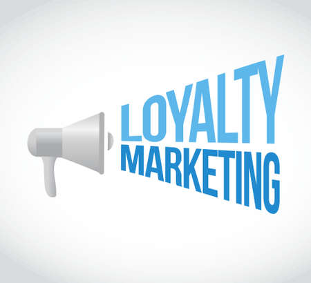 loyalty marketing megaphone message concept illustration design graphic