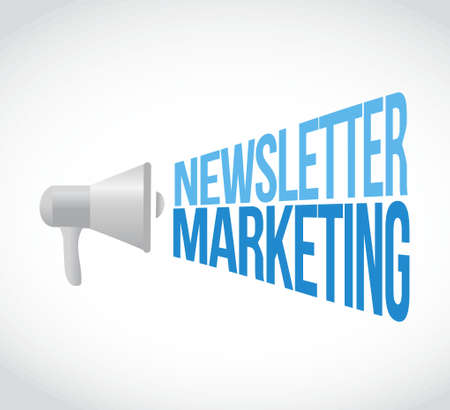 newsletter marketing megaphone message concept illustration design graphic