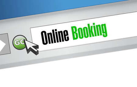 online booking website sign concept illustration design graphic Ilustração