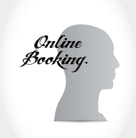 online booking people sign concept illustration design graphic