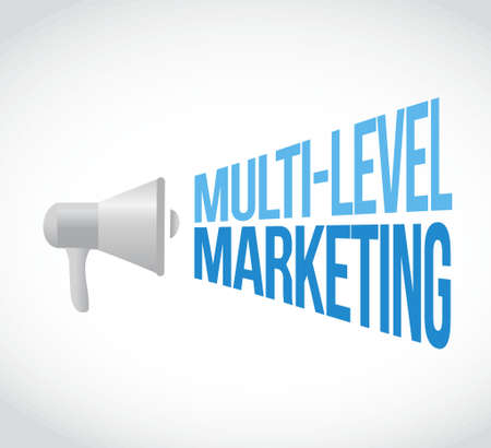 multi level: multi-level marketing megaphone message concept illustration design graphic