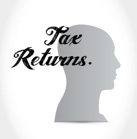 tax returns: tax returns head avatar sign concept illustration design graphic