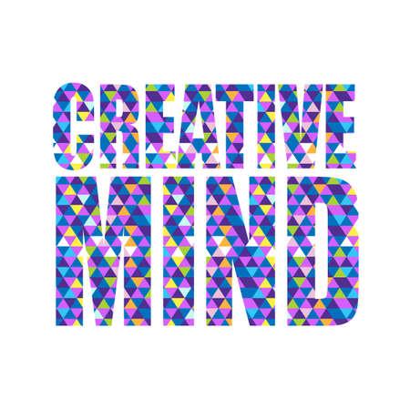 triangle pattern: triangle shape creative mind text pattern background illustration design graphic Illustration