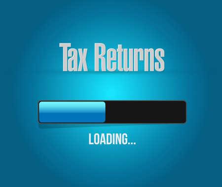 tax returns search bar sign concept illustration design graphic