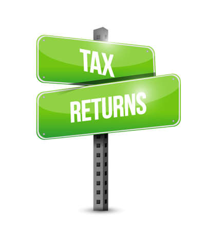 filing: tax returns road sign concept illustration design graphic