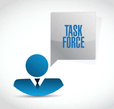 force: task force businessman sign concept illustration design graphic