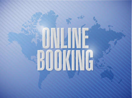 online booking world map sign concept illustration design graphic