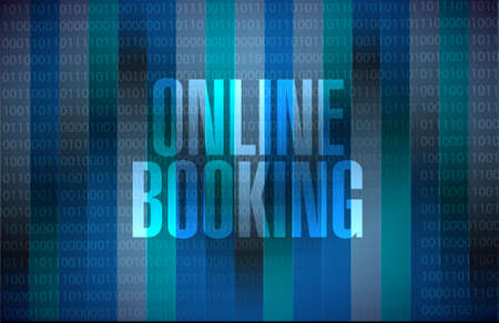 booking: online booking binary background sign concept illustration design graphic