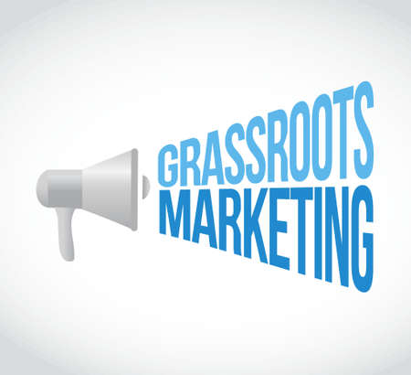 grassroots: grassroots marketing megaphone message concept illustration design graphic