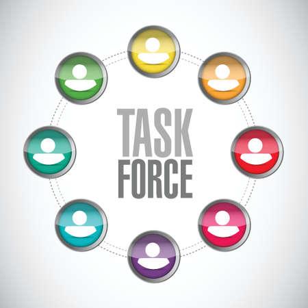 task force people network sign concept illustration design graphic