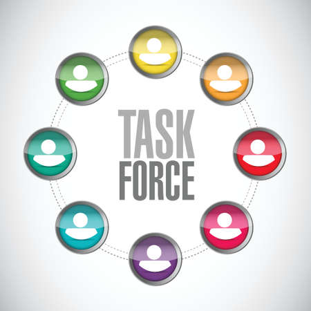 task force people network sign concept illustration design graphic