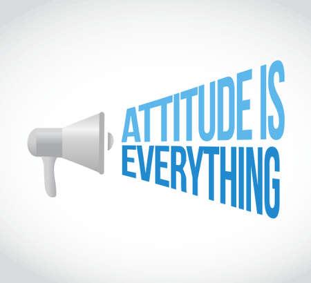 attitude: attitude is everything megaphone loudspeaker message illustration design graphic