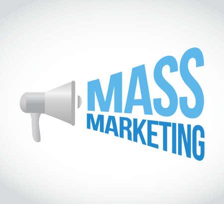 mass marketing megaphone message concept illustration design graphic